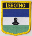 Lesotho Embroidered Flag Patch, style 07.